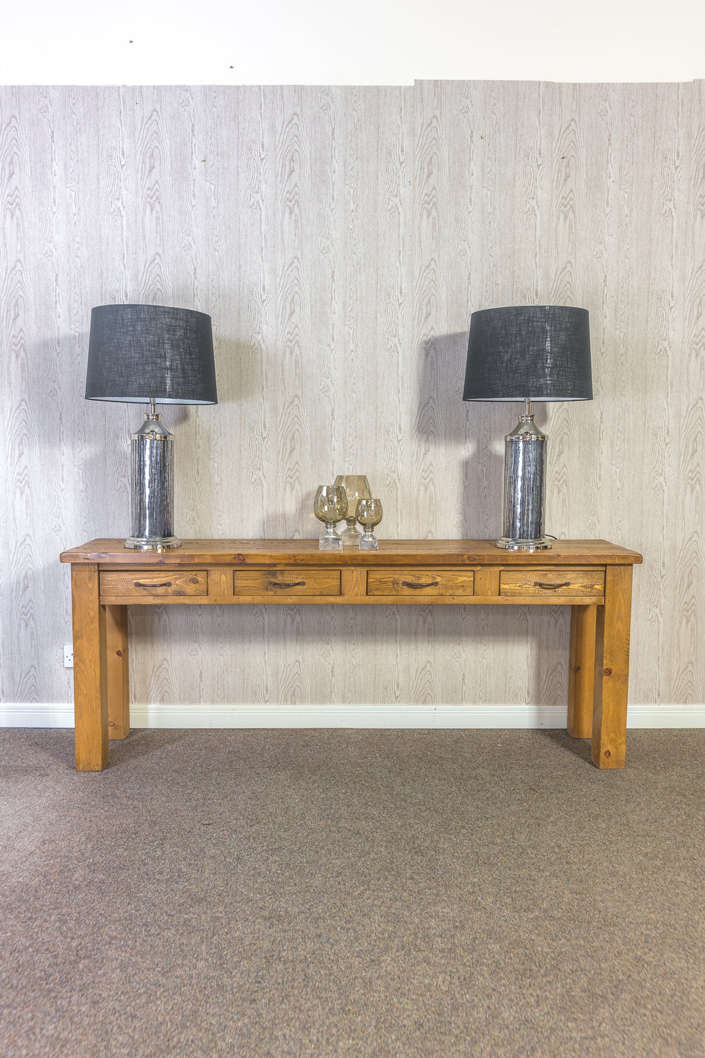 Boss 4 Drawer Console Table
