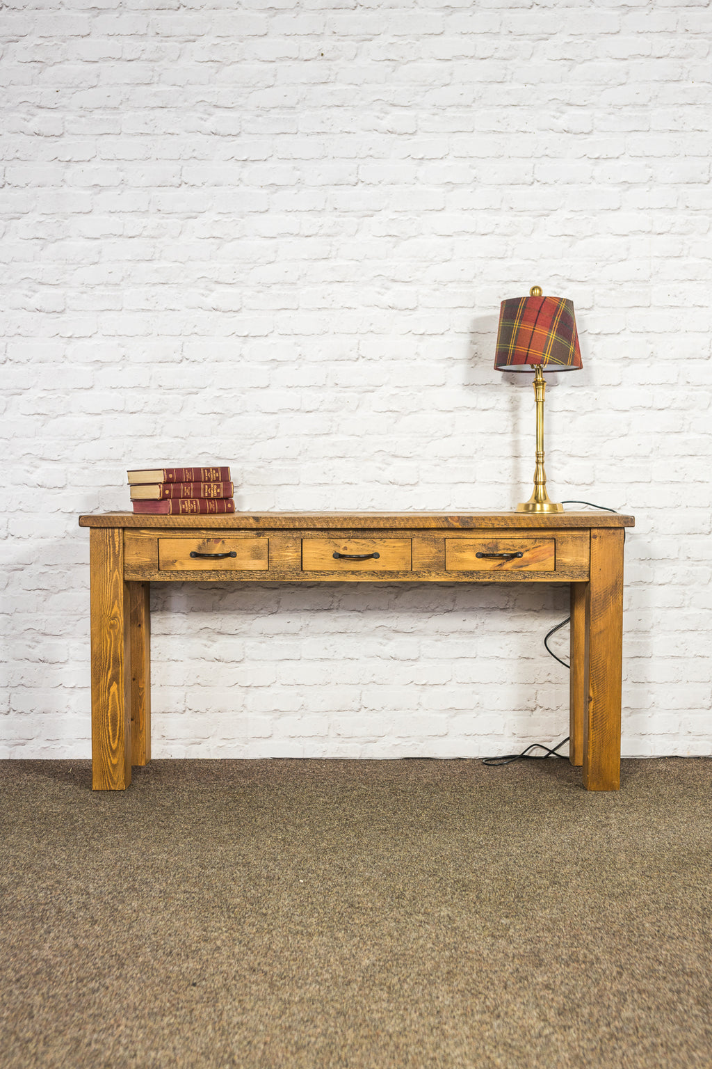 Boss 3 Drawer Console Table