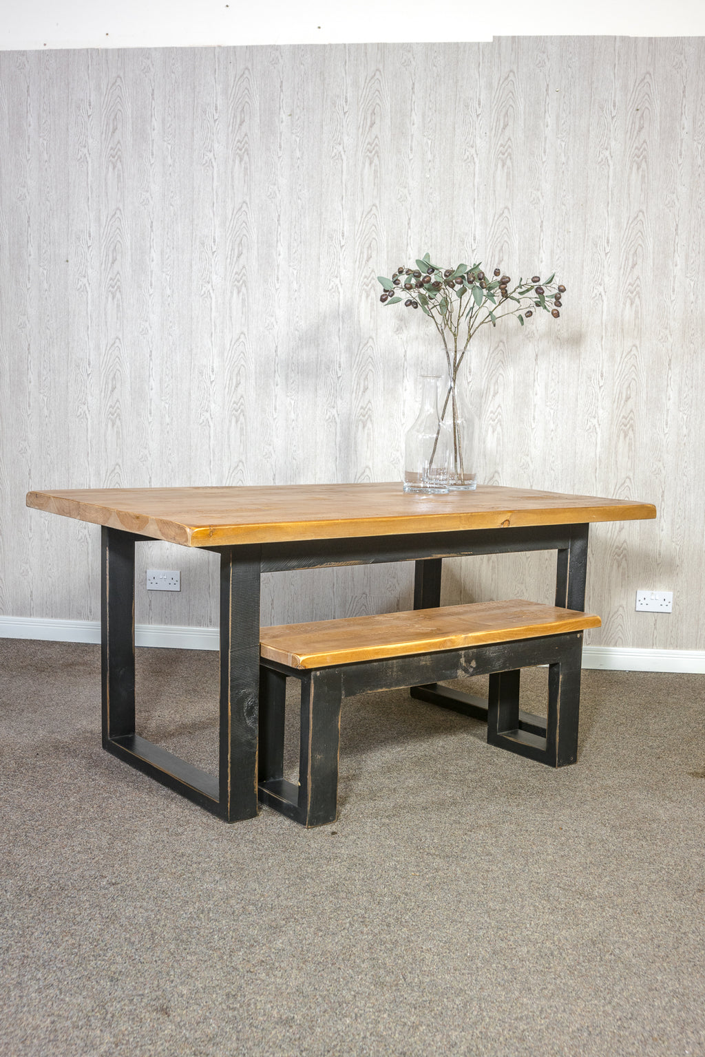 Boss Industrial Box Legs Dining Table