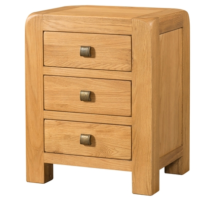 Avondale 3 Drawer Bedside Table