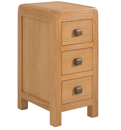 Avondale Compact 3 Drawer Bedside Table