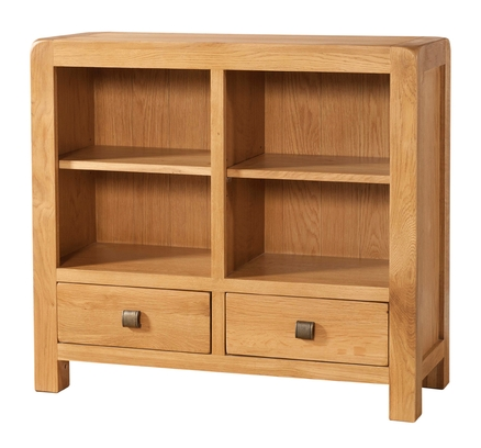Avondale Low Bookcase with 2 Drawer