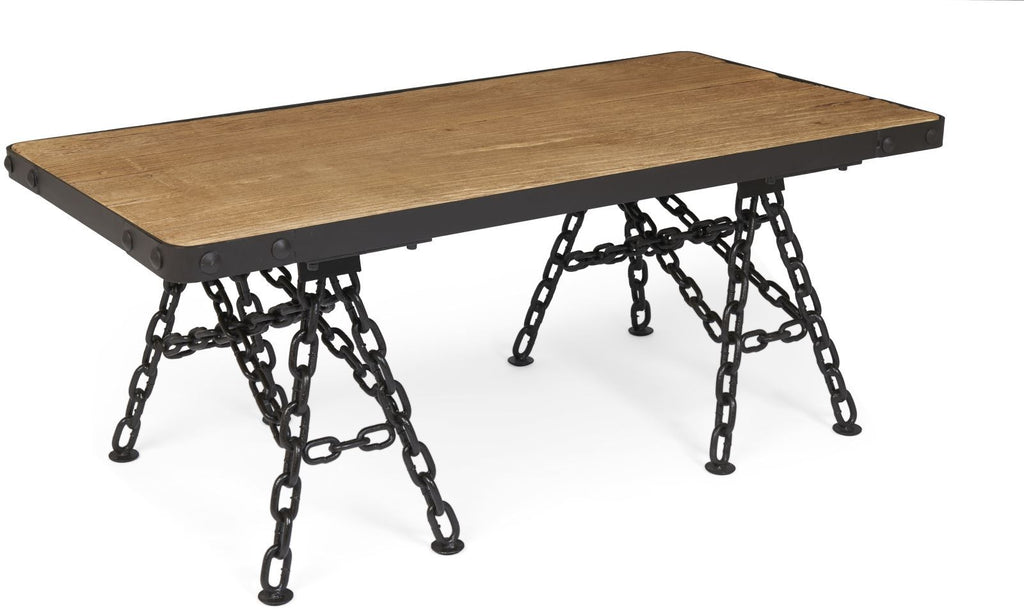 Tuscany Coffee Table with Chain Legs