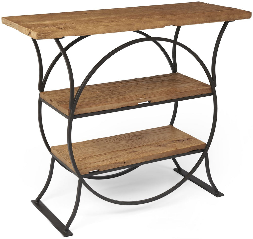 Tuscany Console Table with Shelves