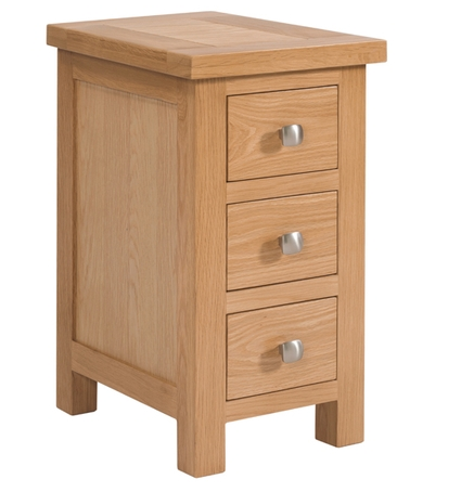 Dorchester Compact 3 Drawer Bedside Table