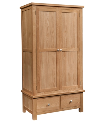 Dorchester Gents Wardrobe with 2 Drawers
