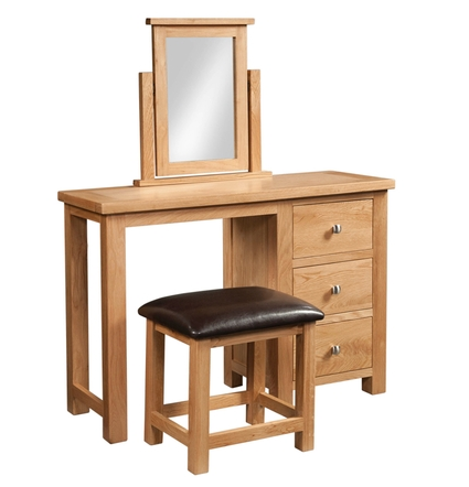 Dorchester Single Pedestal Dressing Table + Stool