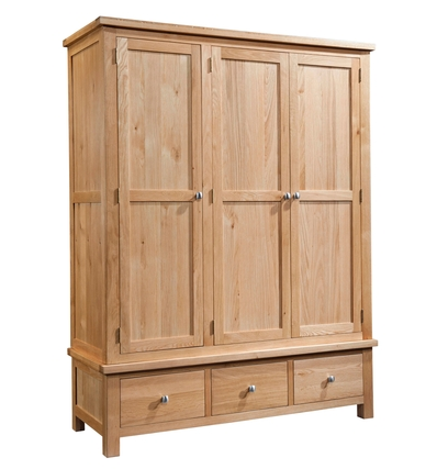 Dorchester Triple Wardrobe with 3 Drawers