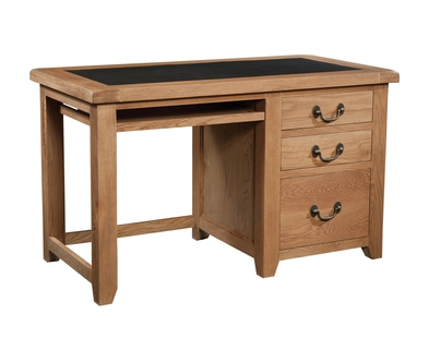 Dorset Office Desk with Leather Look Top