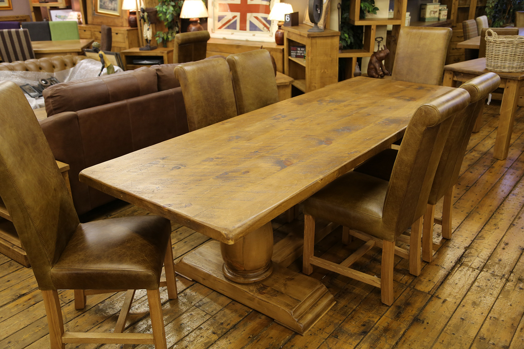 Boss Tudor Double Pedestal Dining Table