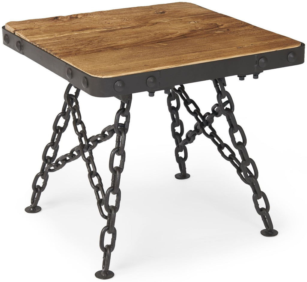 Tuscany Lamp Table with Chain Legs