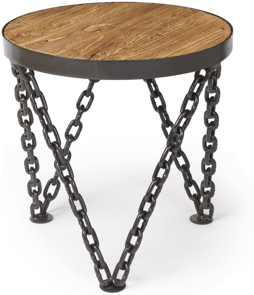 Tuscany Round Wine Table with Chain Legs