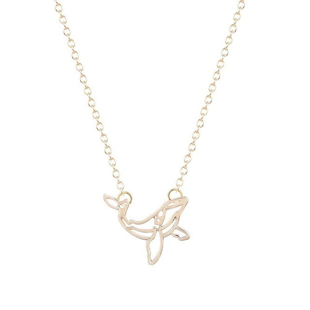 Gold Silver Whale Necklace