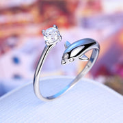OceanLife Silver Dolphin Rings