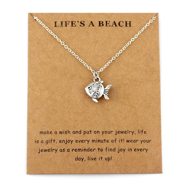 Life's a Beach Wish Necklaces