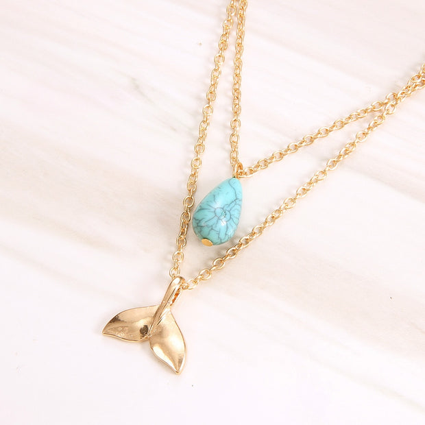 Gold OceanLife Whale Necklace
