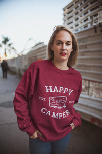 Happy Camper Sweater | Camping Sweater | Blue River Boutique