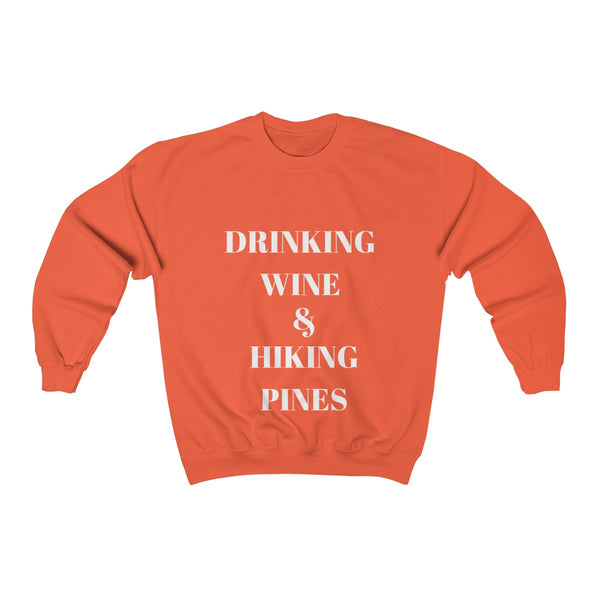 Drinking Wine And Hiking Pines Womens Sweater | Blue River Boutique