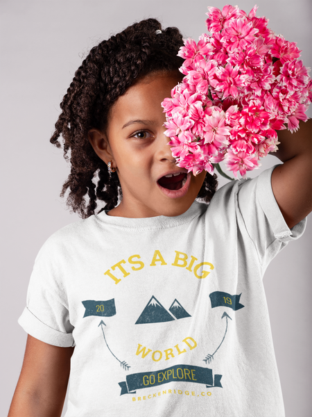 Its A Big World Youth Girls Tee Shirt | Blue River Boutique