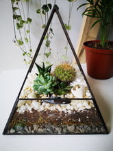 Load image into Gallery viewer, White Stone Pyramid Terrarium