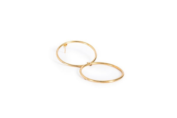 DOUBLE RING EARRINGS