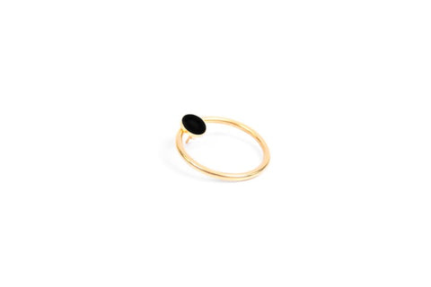 KARA SMALL COLOR COIN + RING EARRING