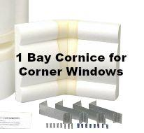 Avalon Corner Window Cornice Kit