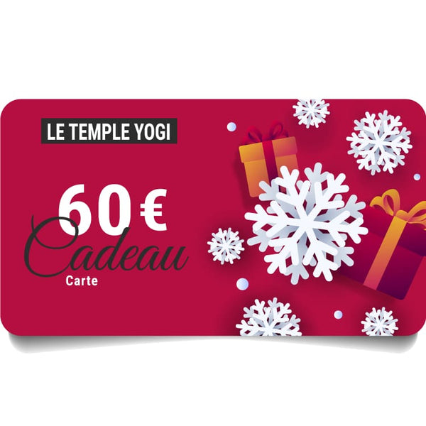 Carte cadeau virtuelle | Le Temple Yogi - 60,00 € - Gift Card
