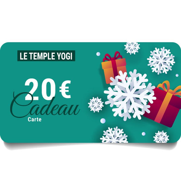 Carte cadeau virtuelle | Le Temple Yogi - 20,00 € - Gift Card