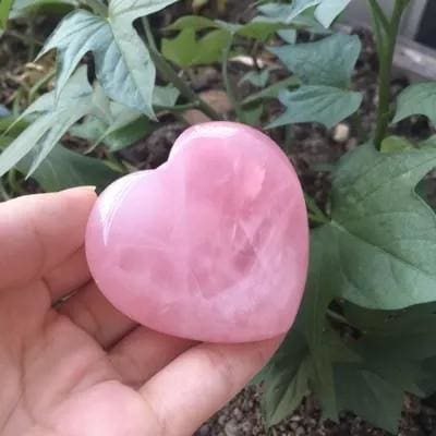 Coeur En Quartz Rose - Pierre