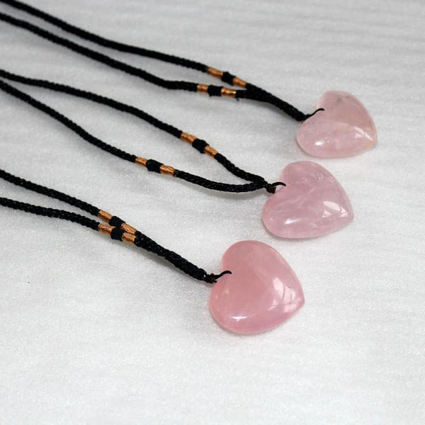 Collier Coeur de Quartz Rose - collier