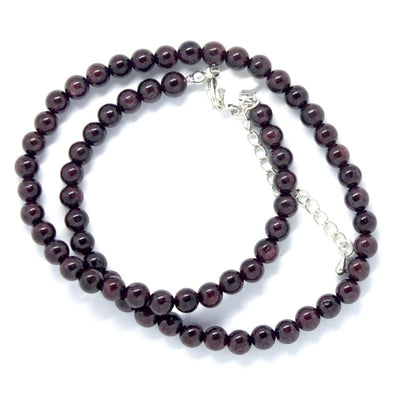 Collier en fines perles de Grenat Rouge - collier
