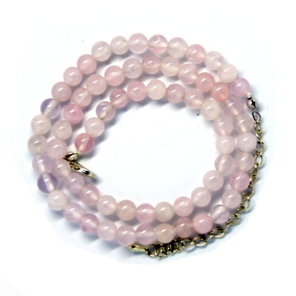 Collier en fines perles de Quartz Rose - collier