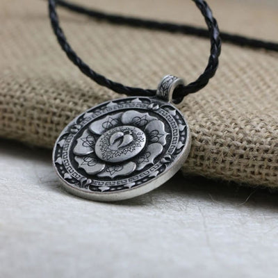 Collier Mandala Fleur De Lotus Antique - Collier