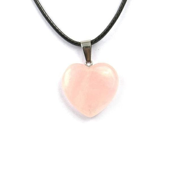 Colliers Cur En Pierre - Quartz Rose - Collier