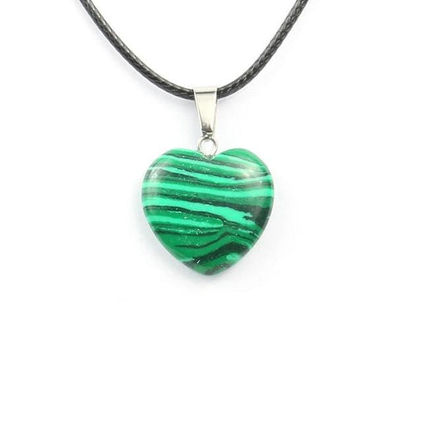 Colliers Cur En Pierre - Malachite - Collier