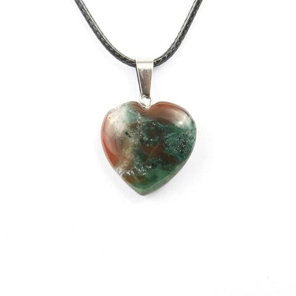 Colliers Cur En Pierre - Agate Indienne - Collier