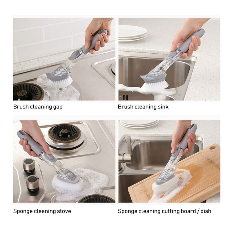 1/5Pcs Double Use Kitchen Cleaning Brush Scrubber cleaner tool