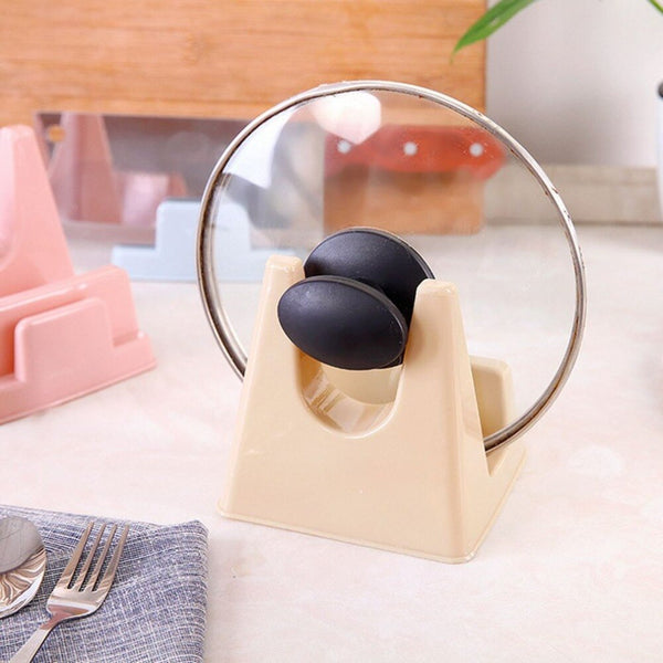 Kitchen Pot Pan Cover Lid Shell Stand Holder PP Chopping Block Storage Rack