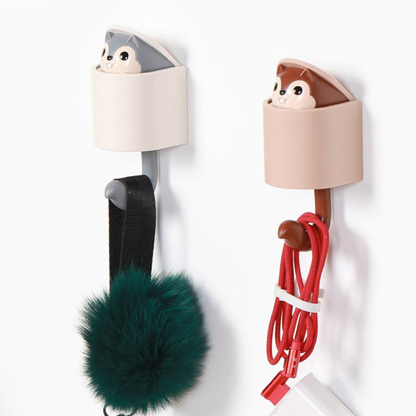 New Squirrel Key Decorative Hooks