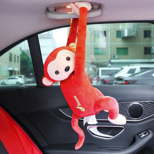 Hanging Monkey Portable Tissue Paper Box