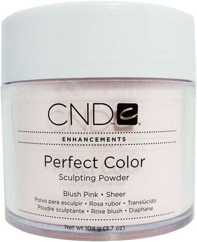 CND Perfect color sculpting acrylic Manicure nail powder - BLUSH PINK (SHEER) 3.7OZ