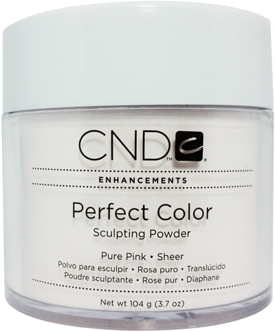 CND Perfect color sculpting acrylic Manicure nail powder - PURE PINK (SHEER) 3.7OZ