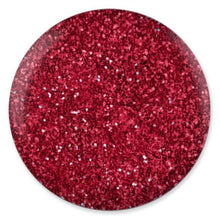DND DC Platinum - Soak off Gel in Glitter Metallic Effect - 184 Ultra Red