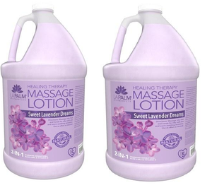 LaPalm Spa Products - 2 in 1 Lavender Healing Therapy Massage Lotion - 2 gallons