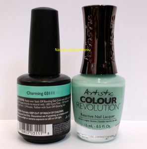 Artistic Nail Design Duo - 1 Gloss Soak-Off Gel Color + 1 Matching Nail Polish