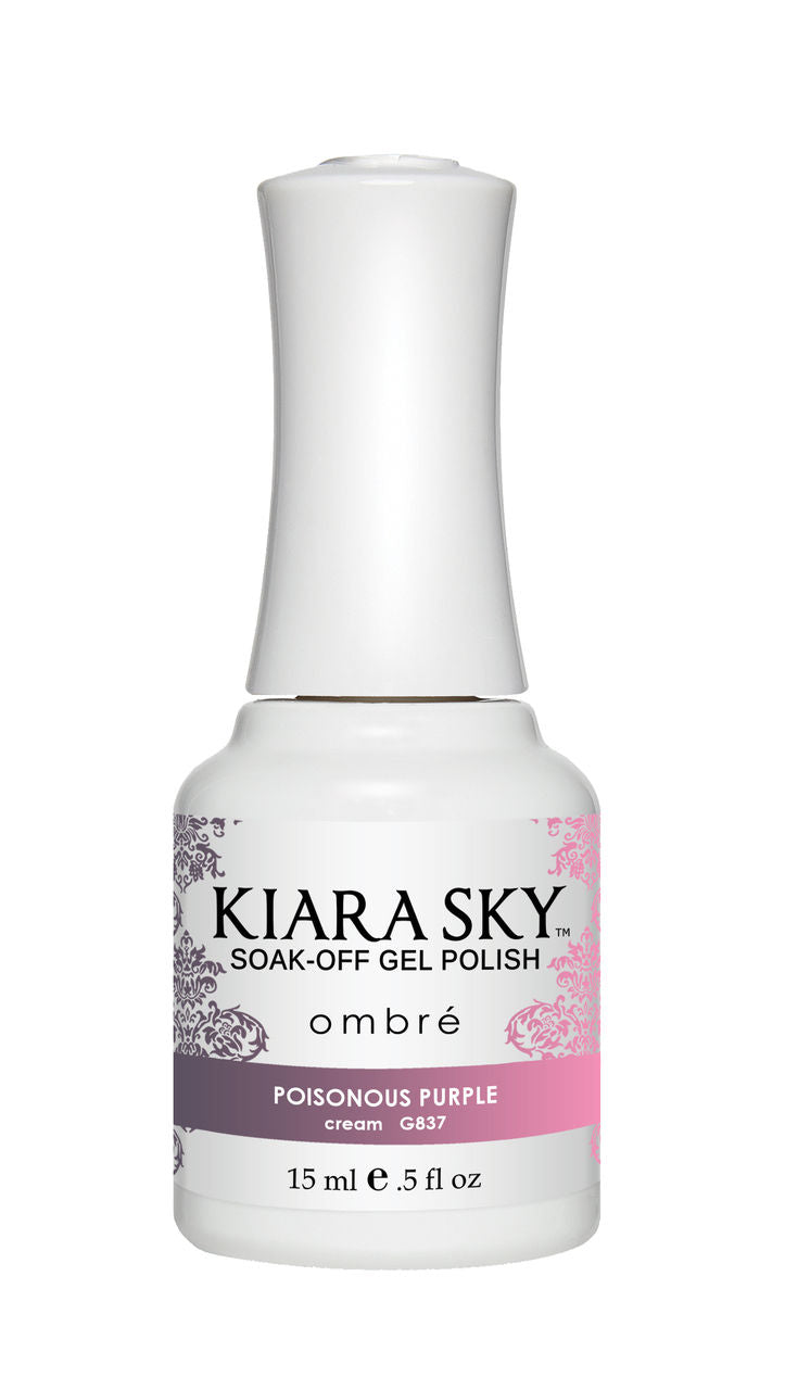 Kiara Sky Soak-off Gel Polish Ombre - G837 POISONOUS PURPLE