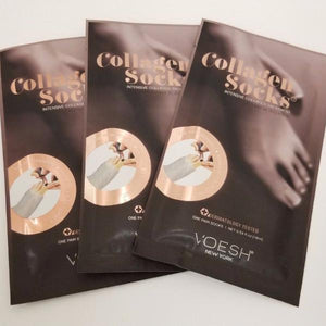 3 PAIRS - New Look VOESH New York Deluxe Pedicure Collagen SOCK (Pre-Cut)