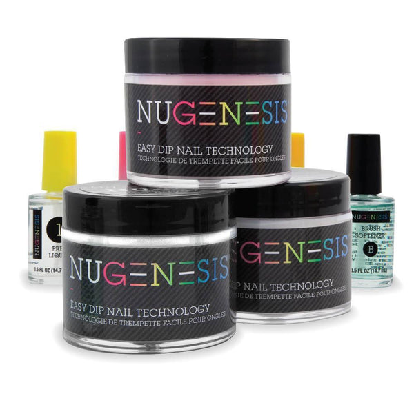 NUGENESIS Easy Dip Powder - Starter French Kit (1.5oz/Jar + 0.5oz liquid bottle)