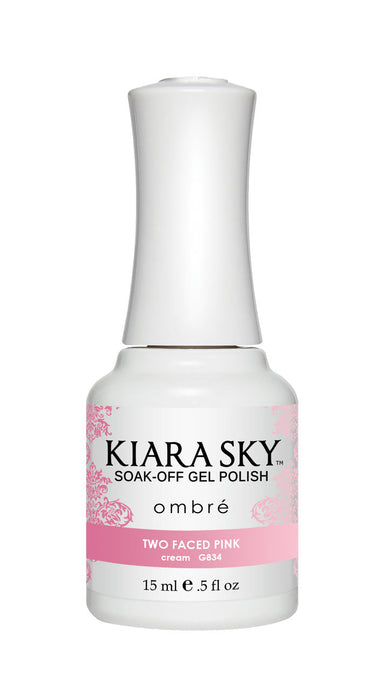 Kiara Sky Soak-off Gel Polish Ombre - G834 TWO FACED PINK